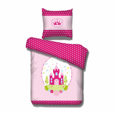 Bettwäsche Peyton Vipack für alle 90*200 cm Betten 2-teilig aus 100 % Baumwolle bei 40° waschbar Prinzessin