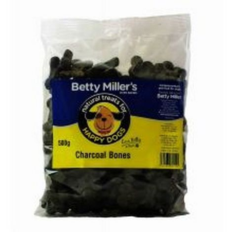 Betty Millers Charcoal Bones Dog Treats (500g) (May Vary)