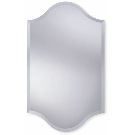 Bevelled Edge Bathroom Mirror 500mm x 820mm Wall Mounted Stylish Versatile