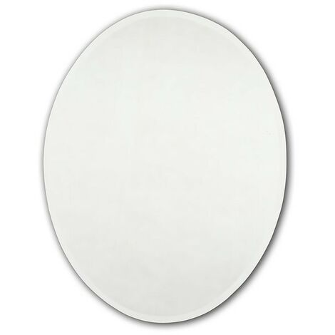 Bevelled Oval Mirror 500mm x 400mm