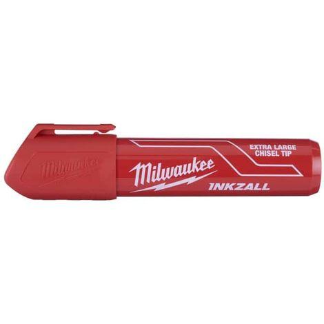 Bevelled tip marker MILWAUKEE XL - Inkzall Red 4932471560