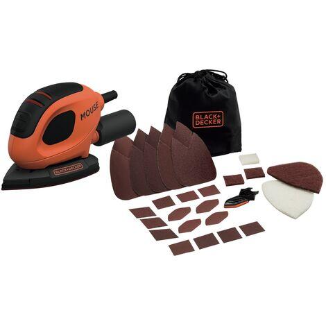 BEW230BCA-QS Ponceuse de détail Mouse filaire - 55 W - Ø 130 x 91 mm - Fixation auto-agrippant - 15 abrasifs