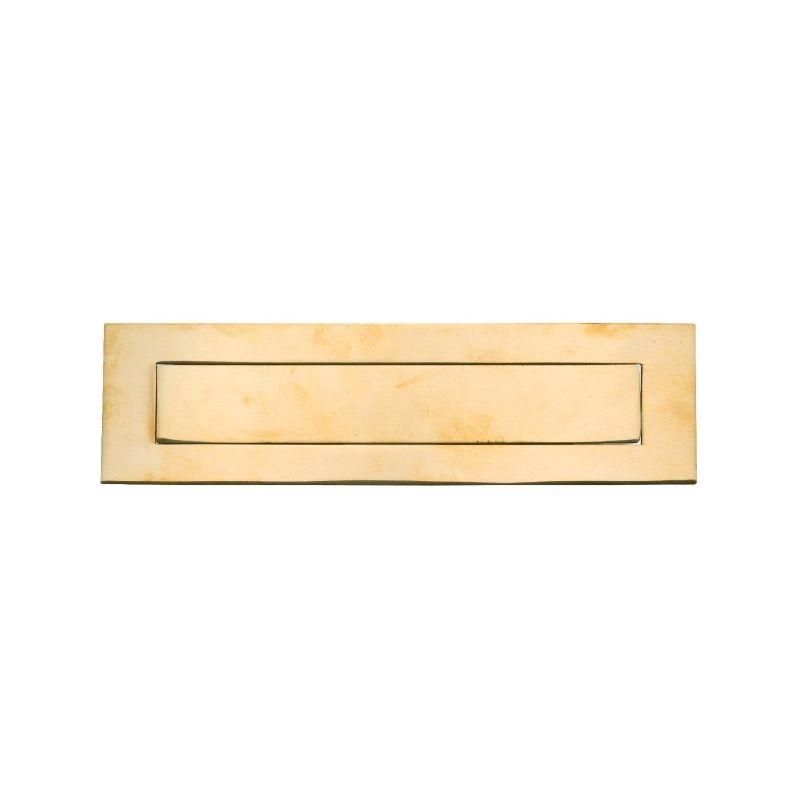Laiton Plaque d/'obturation Letterbox-laiton lettre Boîte Vide Plaque-Métal Laiton Blan