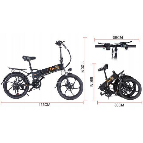 BEZIOR-M20 Vélo électrique pliable et portable, moteur 10.4Ah 350W, roues de 20 pouces, kilométrage jusqu'à 35KM, montée à 30°.