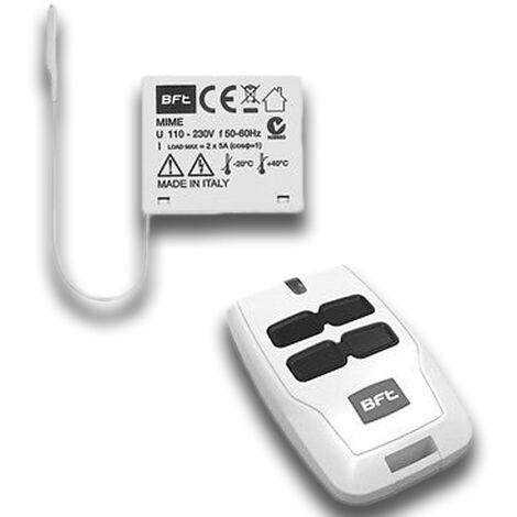 bft récepteur 2 canaux à intérieur 433 mhz mime ac kit r400005
