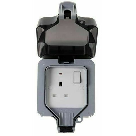 BG Electrical WP21, 1 Gang, 13 Amp Double Pole Switched Socket