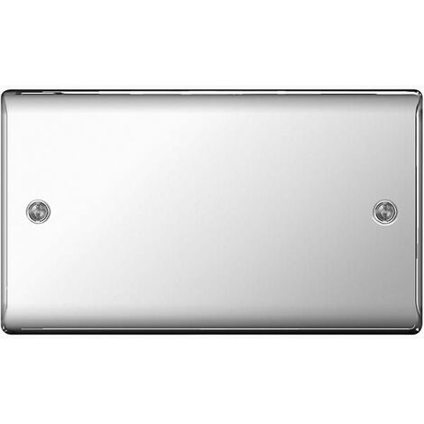 BG Nexus Metal Polished Chrome 2 Gang Blanking Plate - NPC95