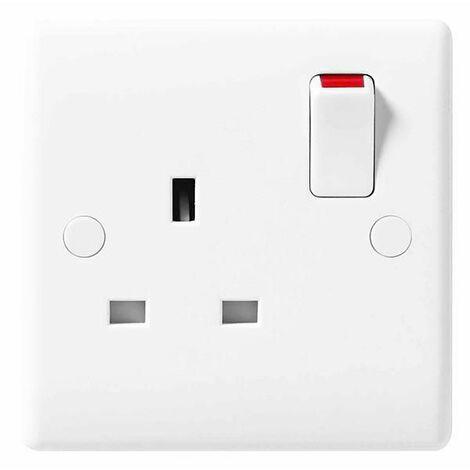 BG Nexus White Double 1 Gang Plug Socket 13A - 821