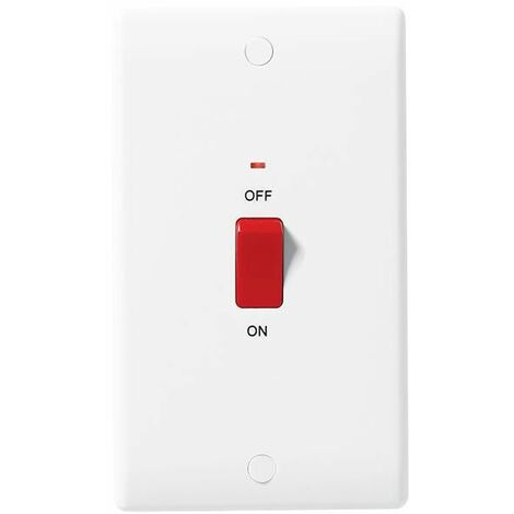 BG Nexus White Double Pole Switch with Indicator 45A - 872