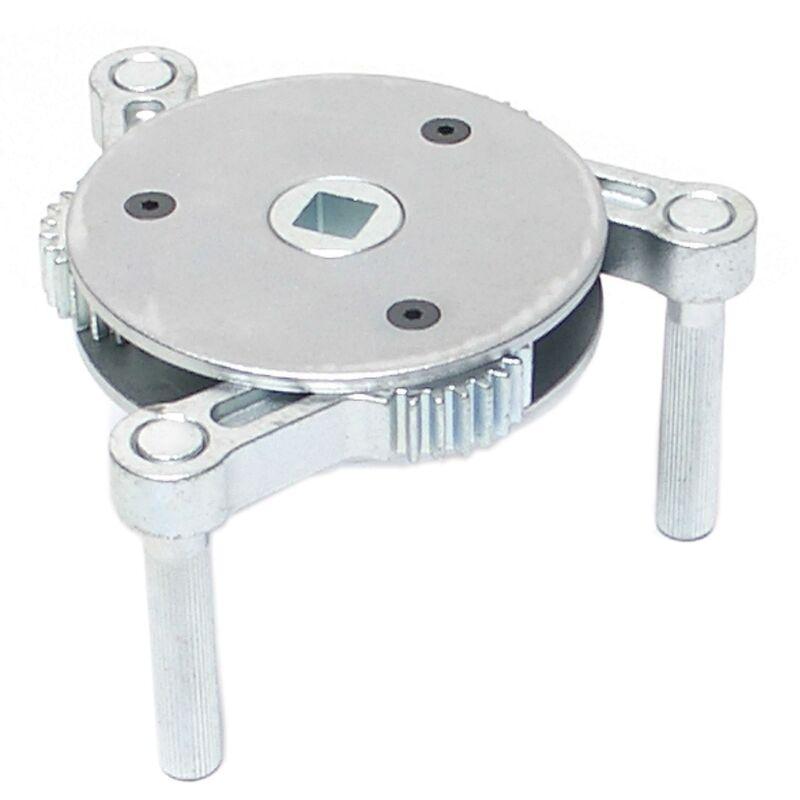 BGS technic Clé à Filtre, 3 griffes   pour filtres à huile de Ø 115 - 160 mm