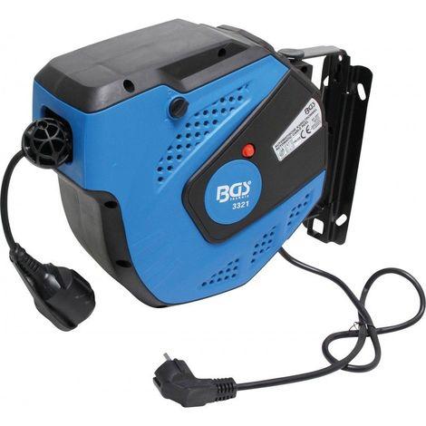 BGS TECHNIC Enrouleur de câble automatique 15 m art 3321