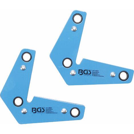 BGS technic Juego de escuadra magnética extra fuerte | forma de L | 2 piezas