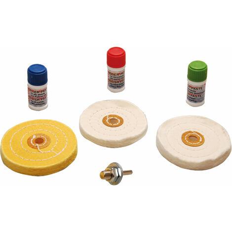 BGS technic Polier-Sortiment für weiche Metalle   7-tlg.