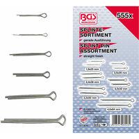 BGS technic Splinte-Sortiment | Ø 1,6 - 4,0 mm | 555-tlg.