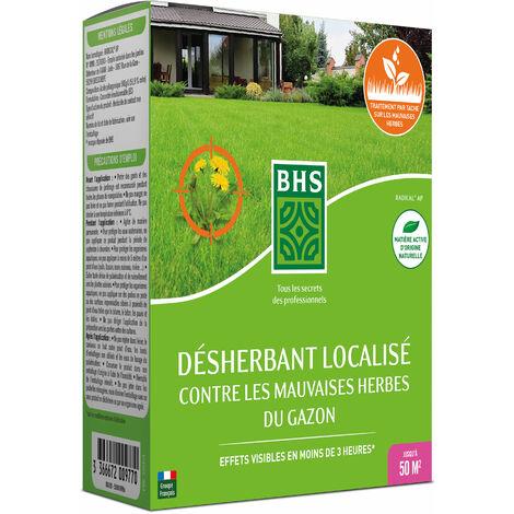 BHS DG100 Desherbant Total Gazon   112,5 ML   Soit 250 m²   Liquide  Action Express   Fabriqué en France