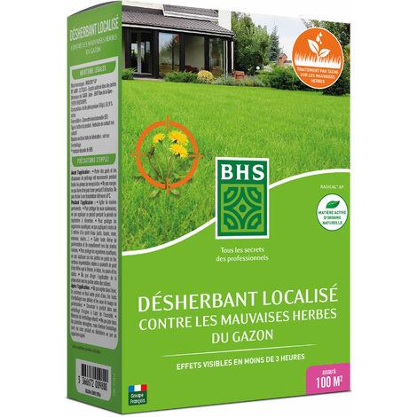 BHS DG200 Desherbant Total Gazon   225 ml   Soit 500 m²   Liquide     Action Express   Fabriqué en France