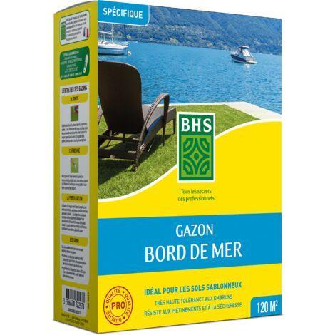 BHS GBM3 | 3kg | 120 m² | Gazon Bord De Mer| Grande résistance au vent | à la sécheresse et aux conditions salines | Bon comportement estival | Esthétique et résistance générale