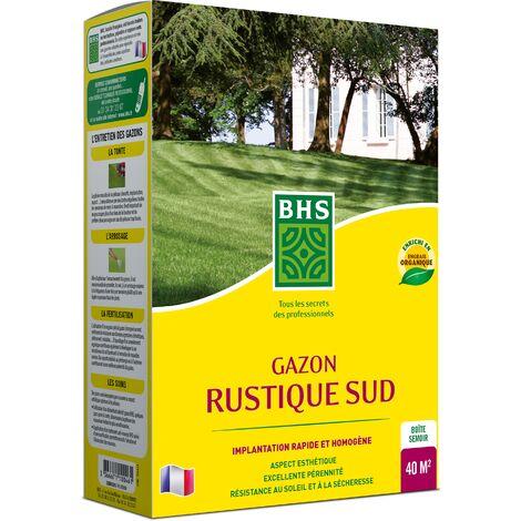BHS GRS1 | 1kg | 40 m² | Gazon Rustique Sud | Gazon plus résistant et mieux protégé | Résistance aux conditions sèches grâce à la Fétuque élevéerapide et homogène