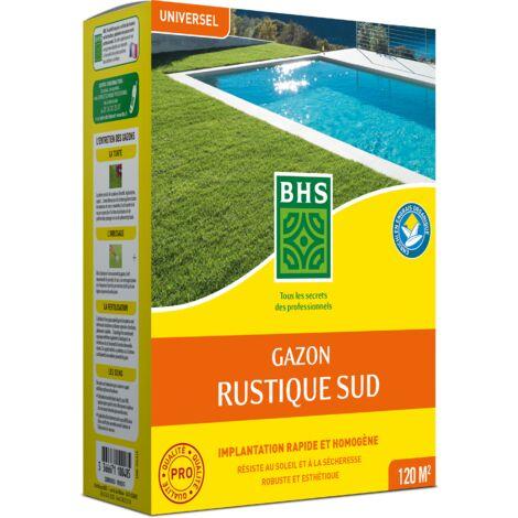 BHS GRS3 | 3kg | 120 m² | Gazon Rustique Sud | Gazon plus résistant et mieux protégé | Résistance aux conditions sèches grâce à la Fétuque élevée |