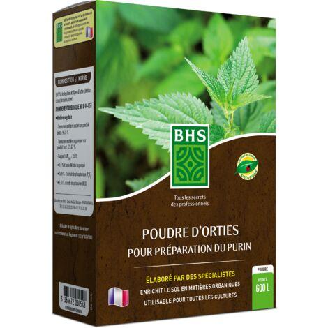 BHS POR300 Poudre Orties   300 g   Soit 200 L   Préparation Naturelle Traditionnelle Issue De La Macération   Fabriqué en France