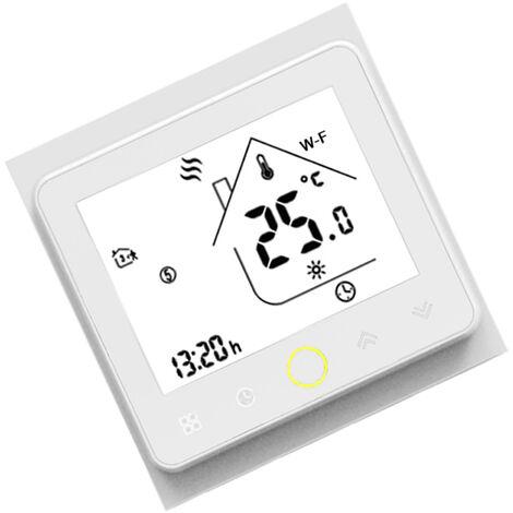 BHT-002-GALW modele Wifi eau chauffage par le sol Thermostat intelligent controleur de temperature Alexa et Google Home Compatible blanc