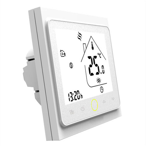BHT-002-GB modele chauffage electrique par le sol thermostat intelligent regulateur de temperature blanc