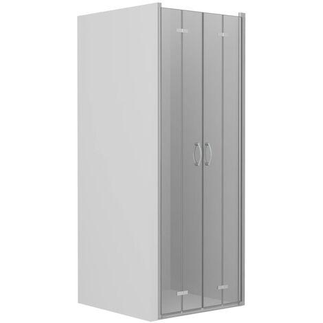Bi-Folding Shower Doors Clear ESG 80x185 cm