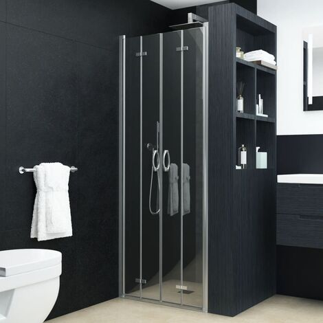 Bi-Folding Shower Doors Clear ESG 95x185 cm