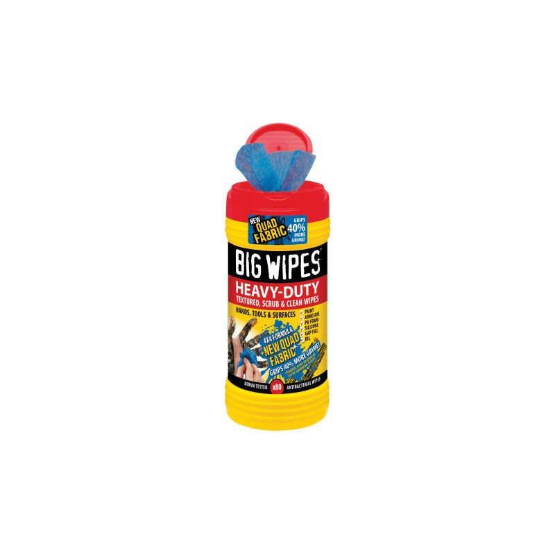 Image of Big Wipes 2420 4x4 Heavy-Duty Cleaning Wipes - Black (Pack of 80)