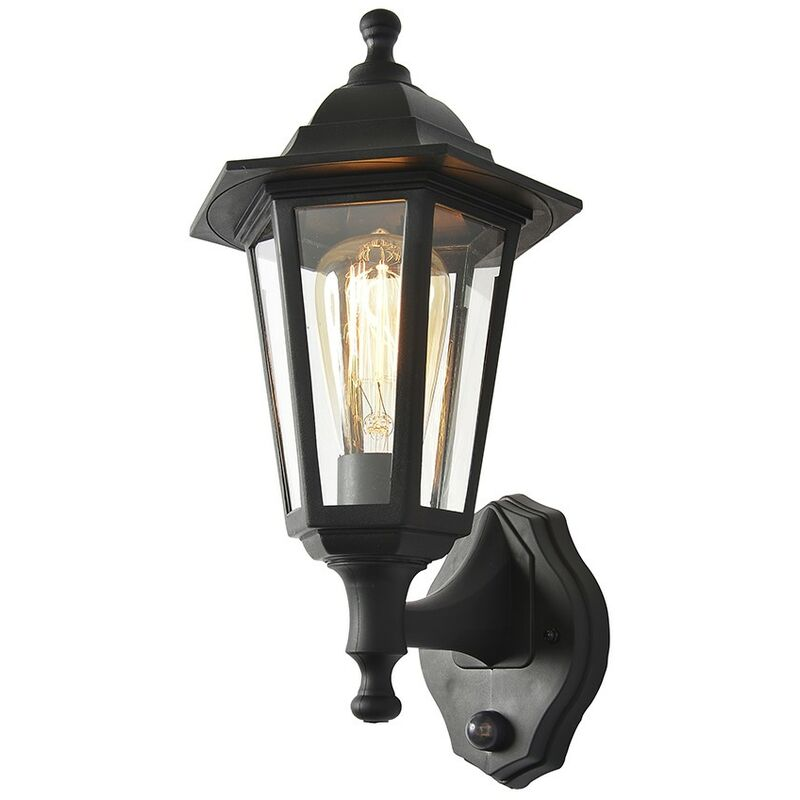 Image of Coast Bianca Polycarbonate Up/Down 6 Panel Wall Lantern with PIR