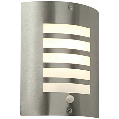 Bianco PIR outdoor wall light Stainless steel