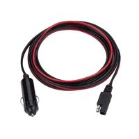Biard 3 Metre Solar Cable with Cigar Lighter Connection for 10W & 20W Flexible Solar Panels