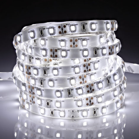 Biard 5m 12V 3528 LED Strip Light - Cool White - IP65 Waterproof