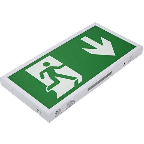 Biard 5W LED Green Slimline Emergency Exit Sign