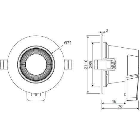 Biard 6W LED Dimmable IP54 Waterproof Bathroom Downlight