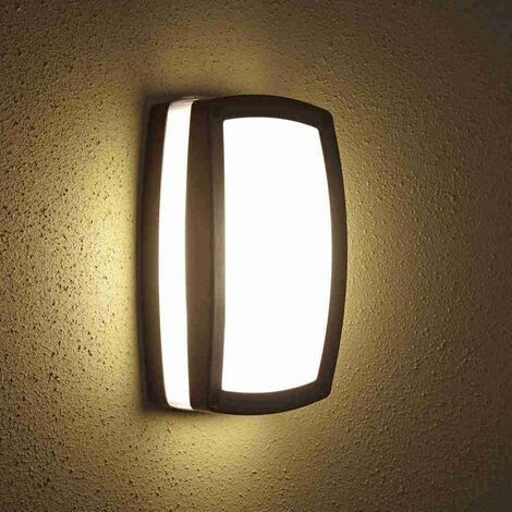 Biard - Applique Extérieure LED E27 9W - Design Hublot Rectangulaire Noir - Black
