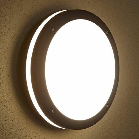 Biard - Applique Extérieure LED Hublot - Luminaire Éclairage Jardin - 9W E27 - Black