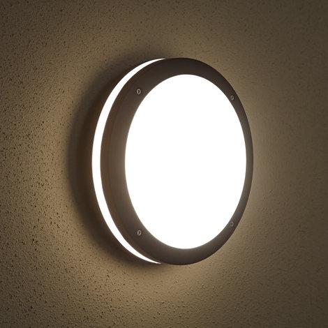 cf6d7f8a946d0 Biard - Applique Extérieure LED Hublot - Luminaire Éclairage Jardin - 9W  E27- Économe en Énergie - Design Rond Noir