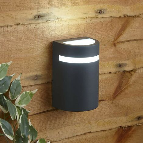 Biard Curved Modern IP54 Outdoor Up Wall Light Garden Patio Porch Door GU10
