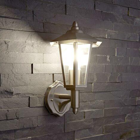 Biard Farol Aplique Tradicional Para Iluminación de Exterior - Acero Cromado
