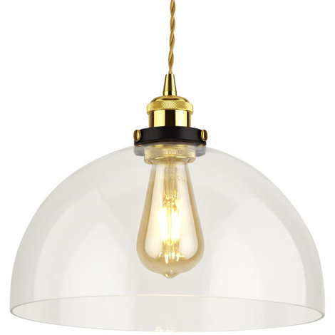 Biard Gracia Domed Clear Gl Light Shade Ceiling Pendant