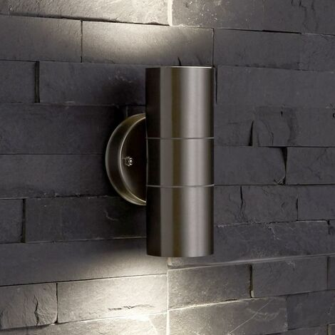 Biard Le Mans Up / Down Wall Light with GU10 Fitting - Outdoor Indoor Garden IP44 Waterproof