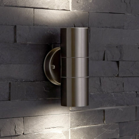 Cool Biard Le Mans Round Ip44 Double Up Down Indoor Outdoor Wall Light Wiring Database Gramgelartorg