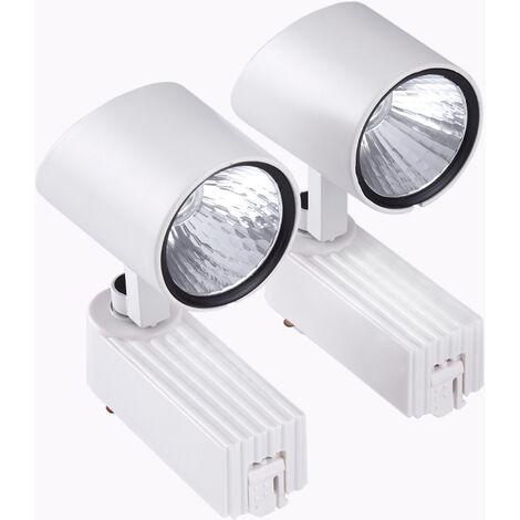 "main image of ""Biard 7W LED Single Circuit Ceiling Track Light Head - White"""