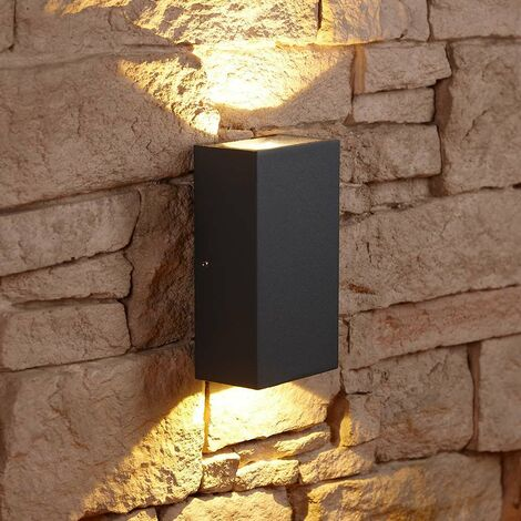 """main image of """"Biard Matte Black Square Cube LED Indoor Outdoor Wall Wash Up Down Light IP54"""""""