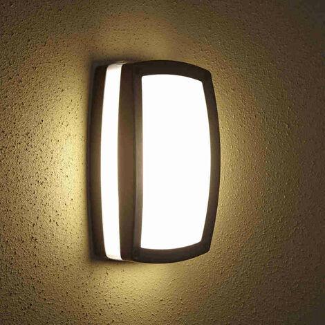 Biard Modern Black Outdoor Bulkhead Wall Security Light IP54 Garden Patio Porch