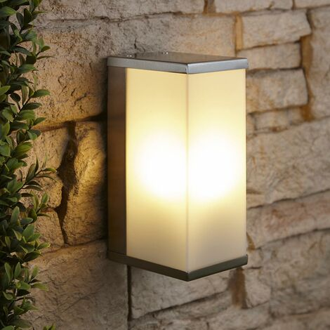 Biard Modern Stainless Steel Box Outdoor Garden Patio Porch LED Wall Light IP44