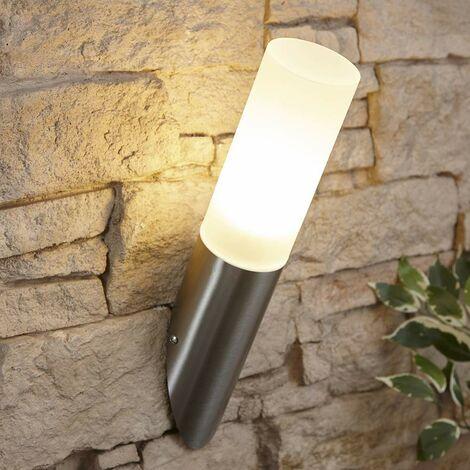 Biard Outdoor Stainless Steel Angled Wall Light Weatherproof IP44 Garden Porch