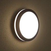 Biard Round Outdoor Bulkhead Wall Security Light - IP54