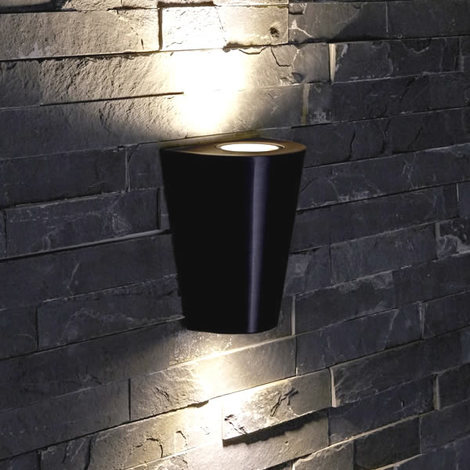 Biard Round Up Down Outdoor Wall Light Black Ip44